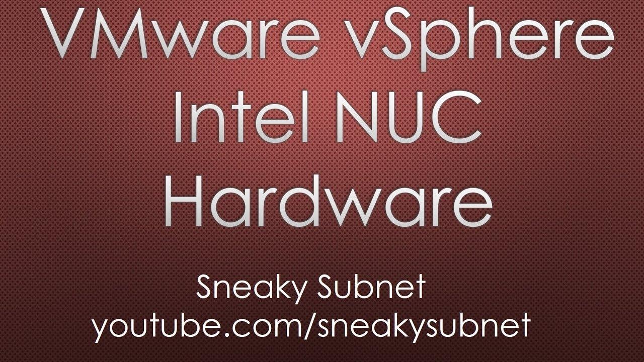 Full-blown VMware vSphere Home Lab on Intel NUC  Hardware