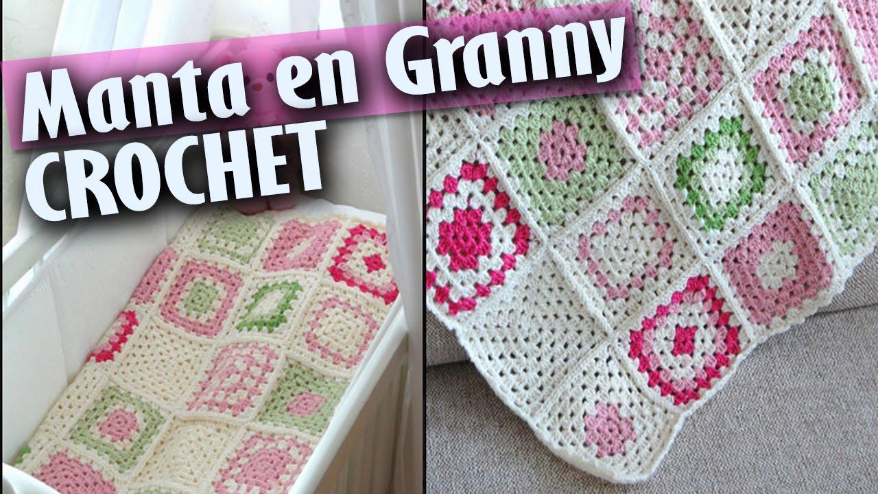 Mantas de bebe en granny tejidas a crochet dise os - Mantas de bebe hechas a ganchillo ...