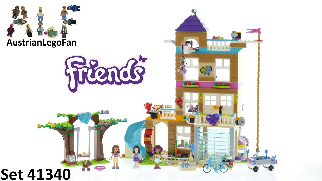 Lego Friends 41340 Friendship House Lego Speed Build Review Youtube