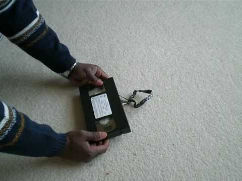 How to Splice a Damaged VHS Tape