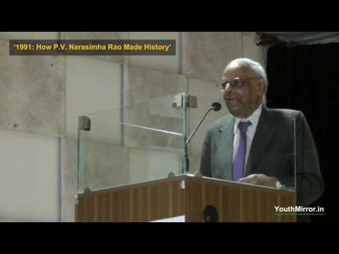 Dr C Rangarajan speaking on 1991, PV Narasimha Rao and book of Sanjaya Baru