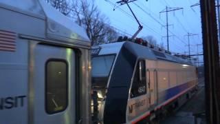 NJ TRANSIT Northeast Corridor : Trenton - bound ALP-46A #4647 w/ Multilevels at Metuchen