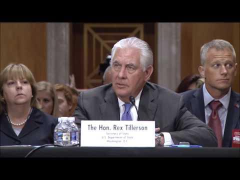 Senator Coons questions Secretary Tillerson June 13, 2017, Senate Foreign Relations Committee