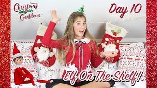 CHRISTMAS COUNTDOWN - *DAY 10* - (naughty elf on the shelf!) | Rosie McClelland