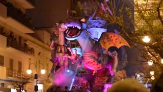 Carnevale Putignano 2018 - Carri allegorici in movimento
