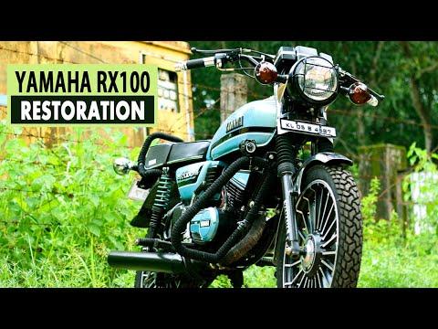 yamaha rx100 bike alteration modified restoration
