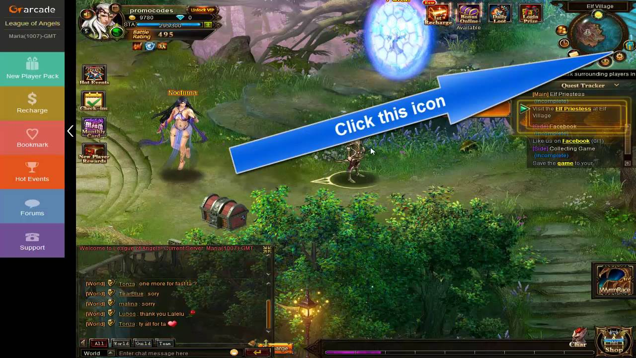 League of Angels codes - How to redeem a code