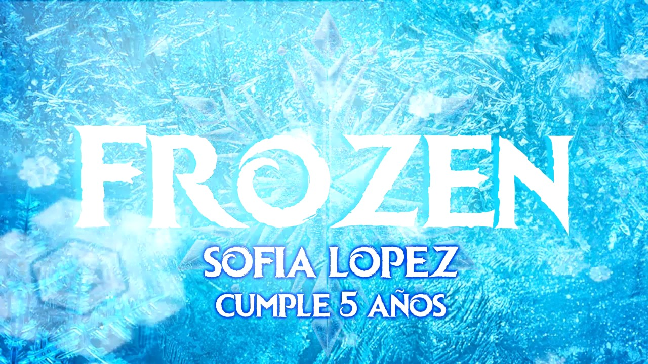 Tarjetas Invitacion Cumpleaños Frozen Animada En Video YouTube