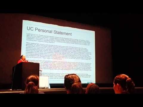UC Counselor Conference: Personal Statement