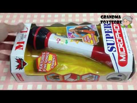 Unboxing TOYS Review/Demo - Voice playback and autotune Karaoke mic stick sing yourself to sleep