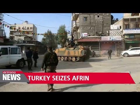 Turkish-led forces take Syrian city of Afrin from Kurdish YPG