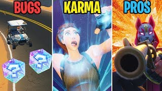 MARIO KART À FORTNITE??? BUGS vs KARMA vs PROS! Fortnite Battle Royale Moments drôles