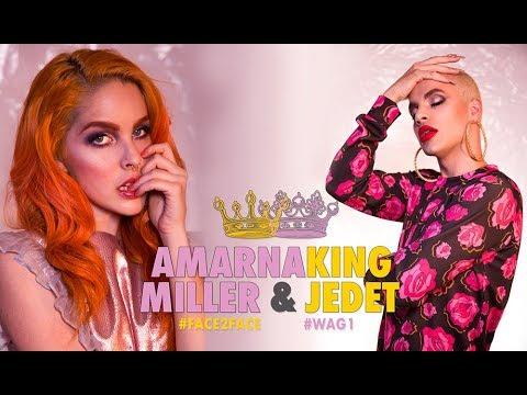 Entrevista #sorpresa a AMARNA MILLER por KING JEDET 😮🌺 #WAG1 #FACE2FACE