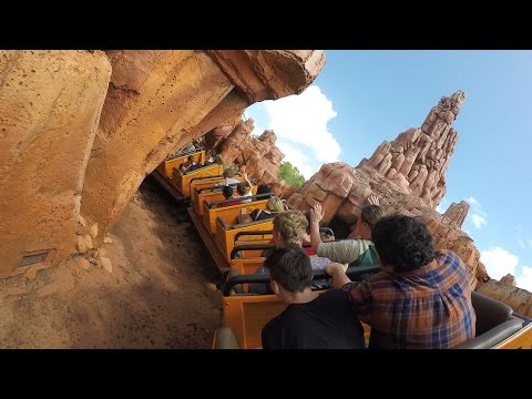 Big Thunder Mountain Back POV 4K Ultra HD Resolution Walt Disney World Magic Kingdom