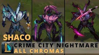 Crime City Nightmare Shaco All Chromas - League of Legends