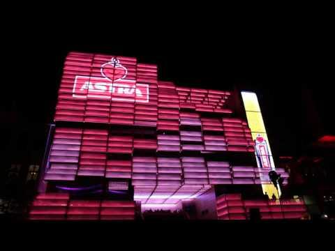 Klubhaus St. Pauli, Reeperbahn, Hamburg: Media Facade: Advertising Astra