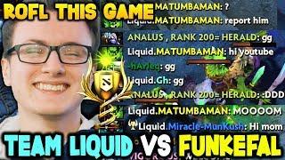 Tinker God Funkefal Vs Team Of Gods Team Liquid - Most Funny Battle Cup Dota 2