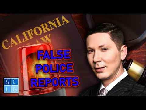 Is it a crime to make a false police report? (Penal Code 148.5)