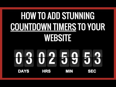 How To Add A Countdown Timer To A Website ( Timer Magic Tutorial )