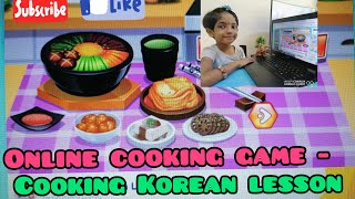 Online cooking game /cooking Korean lesson