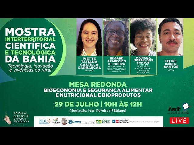 MOSTRA INTERTERRITORIAL CIENTIFICA E TECNOLÓGICA DA BAHIA | MESA 06