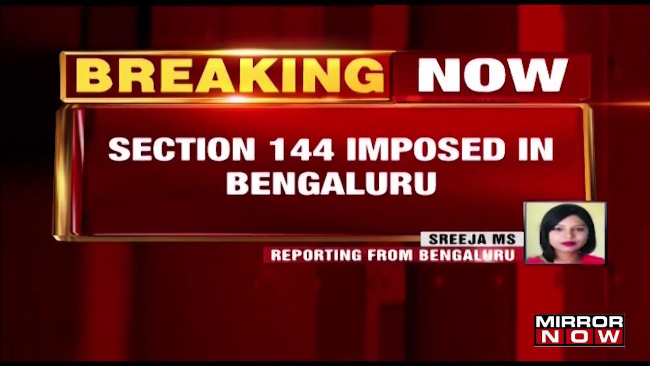 Karnataka Elections: Section 144 Imposed In Bengaluru