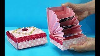 DIY Paper Crafts: Easy Magic Paper Gift Box DIY | Accordion Cardholder Ideas | StylEnrich Crafts