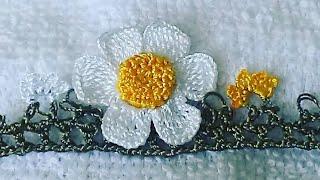 19.TIĞ OYASI ÇOK SEVİLEN PAPATYA YAPIMI(daisy crochet)