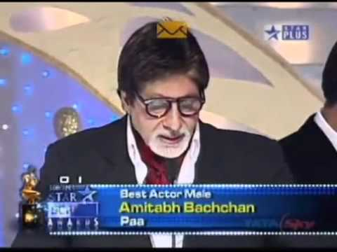 Aishwarya & Abhishek Bachchan Present Best Actor Award to Amitabh Bachchan at Screen Awards 2010   YouTube
