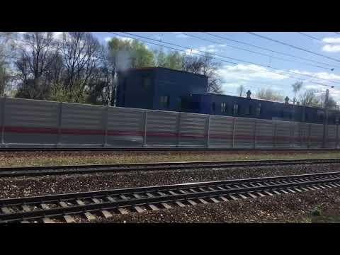 Поездка на поезде, Мамонтовская  платформа, от Пушкино до Мытищи.
