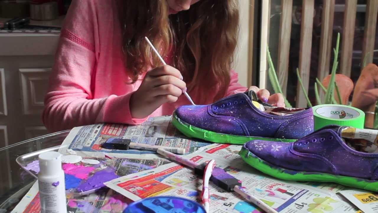 how to make galaxy vans shoes