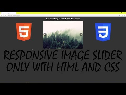 Responsive Image Slider Only With Html And Css