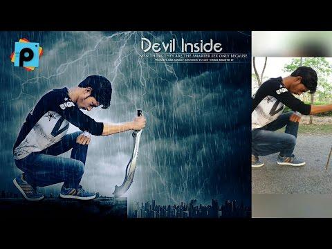 Picsart Rain Effect + Background Change The Legendary Lover Photo Manipulation    Picsart Editing