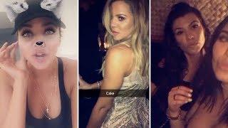 Khloe Kardashian | Snapchat Videos | June 25th 2017 | ft Kourtney Kardasian & Khloe's Boyfriend
