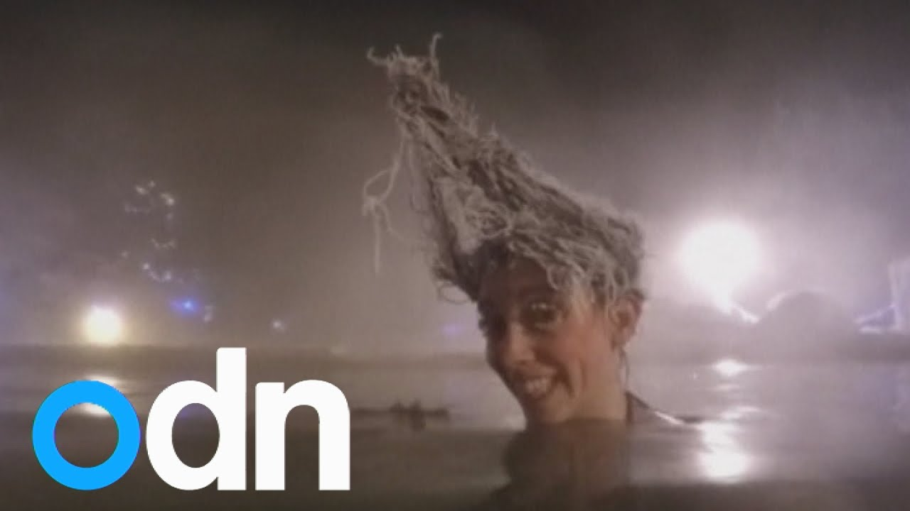 Hair freezing competition takes place in Canada