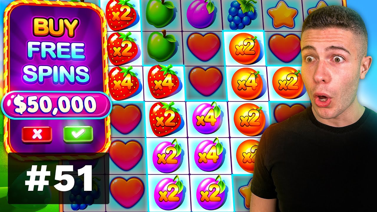 $50000 BONUS BUY on Fruit Party, CRAZY FEATURE on Voodoo Magic! - AyeZee Stream Highlights #51