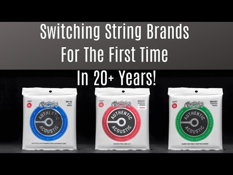 Switching My String Brand, First time in 20 Years! Martin Authentic Acoustic Treated Mp3