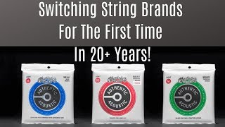 Switching My String Brand, First time in 20 Years! Martin Authentic Acoustic Treated