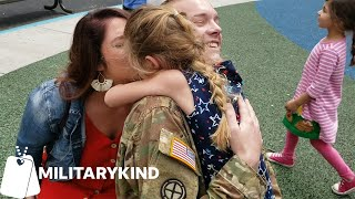 Army Dad pulls off dual surprise for daughters at school | Militarykind