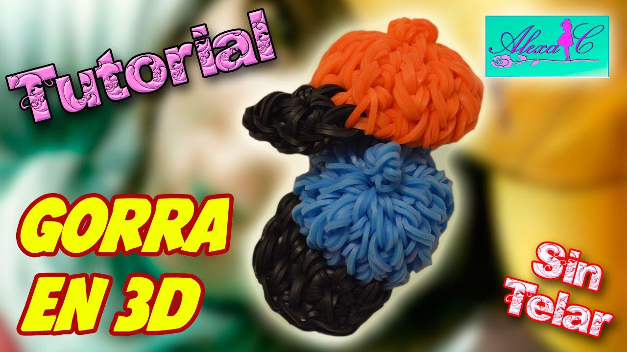 0ab952fac5d1 ♥ Tutorial: Gorra en 3D de gomitas (sin telar) ♥