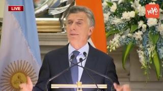 PM Modi LIVE | Modi and President Mauricio Macri of Argentina at Joint Press Meet | YOYO TV Channel