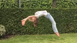 Flikflak op gras leren