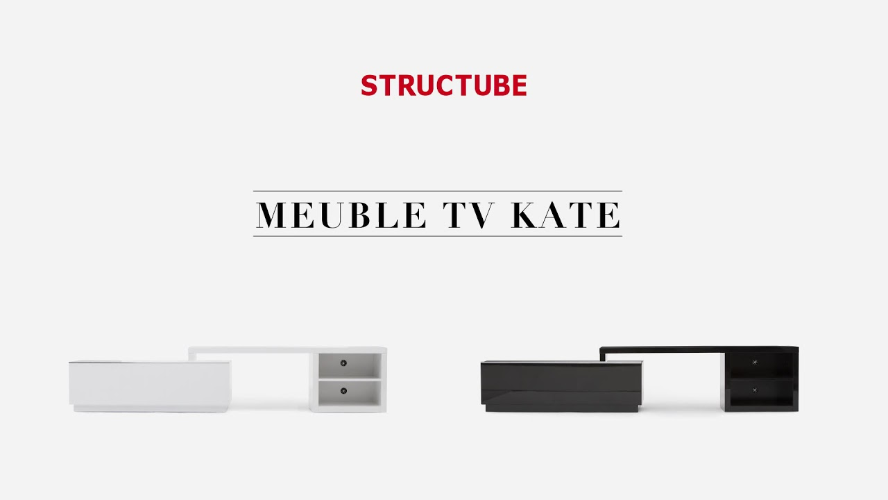 Le meuble t l kate structube youtube for Structube meuble