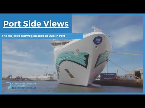 The majestic Norwegian Jade at Dublin Port