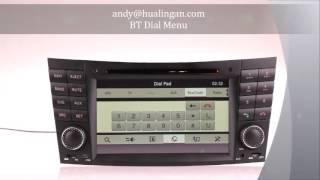Mercedes-Benz E-Class W211 автомобильный DVD-плеер с BT / TV / Радио / SD / USB / DVD и т.д.(, 2013-07-23T07:06:53.000Z)