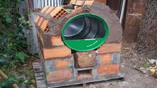 Horno hecho con tambo de 200 litros