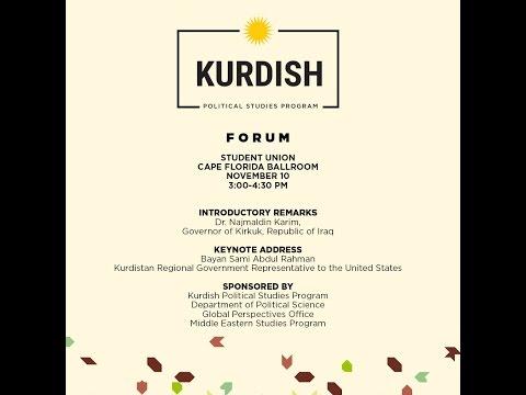 Kurdish Political Studies Program Forum
