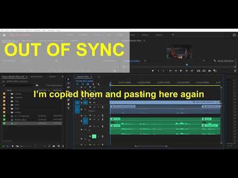 Adobe Premiere Pro Sync Bug