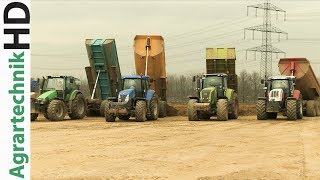 11 traktoren im einsatz   fendt   case ih   massey ferguson   caterpillar tractors