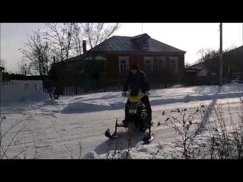 видео: Подвеска гусеницы на самодельном снегоходе